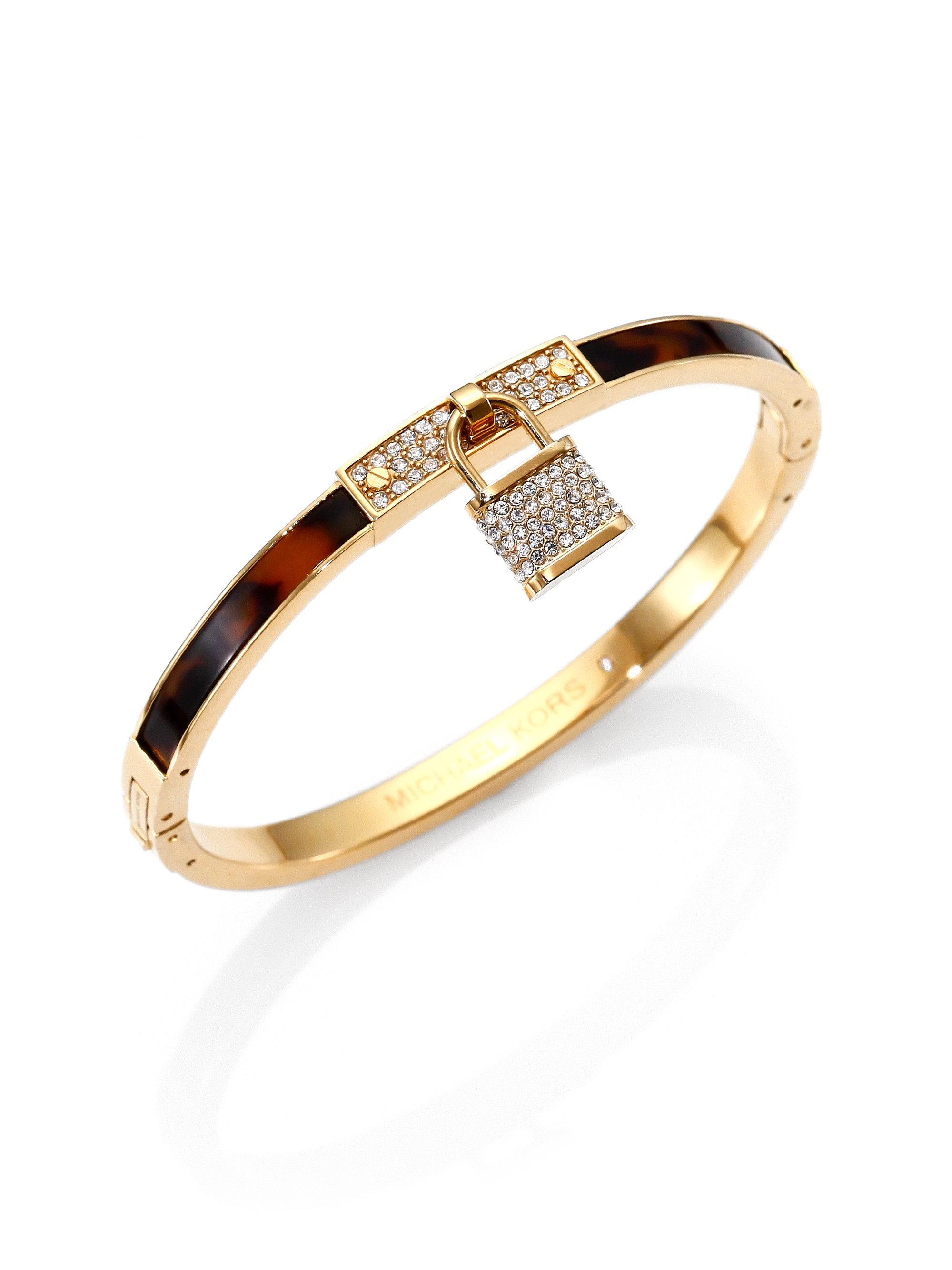 Michael Kors Padlock Bead Rose Golden Bracelets