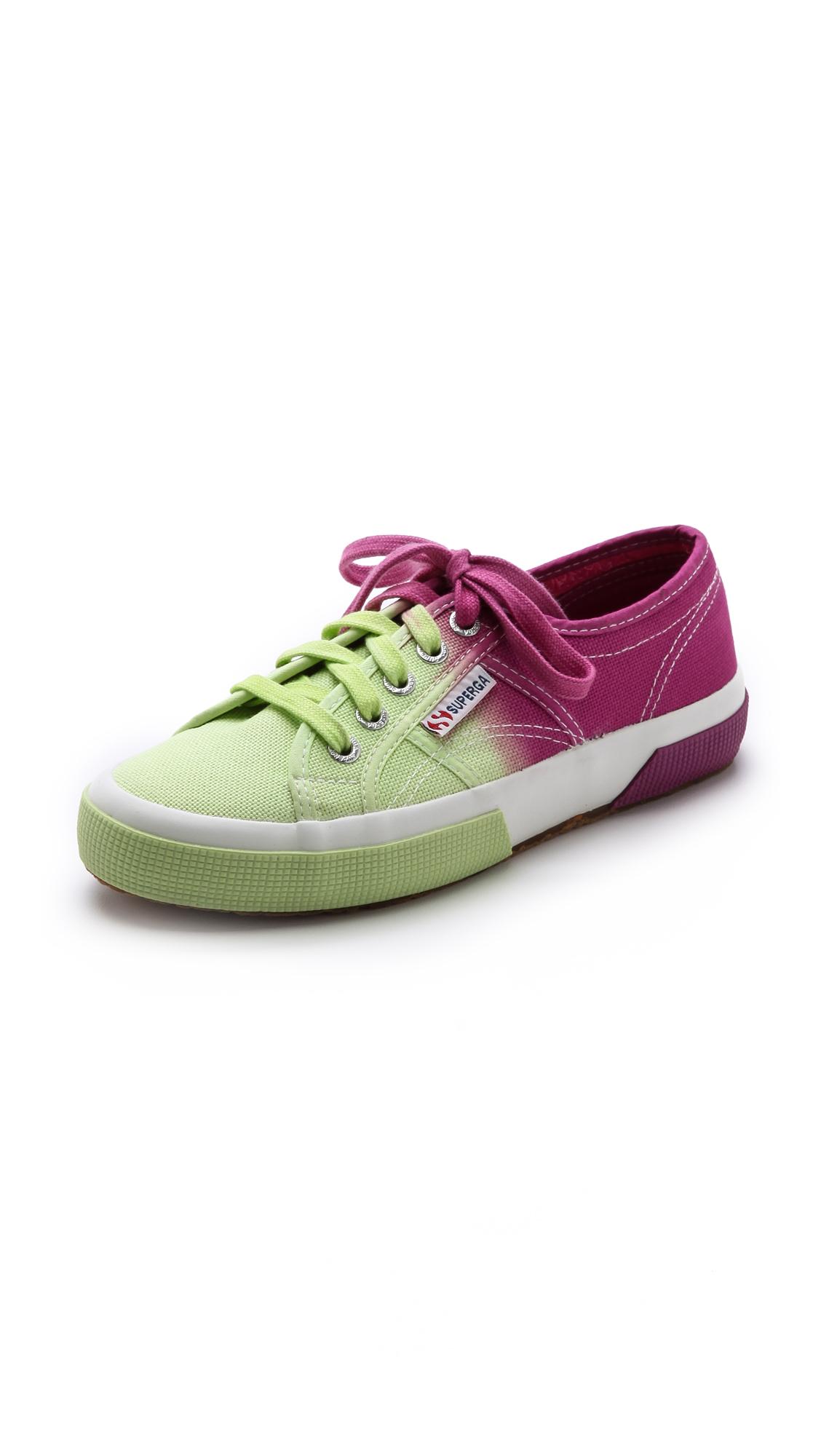 Superga: Superga Ombre Sneakers In Green (Yellow Multi)