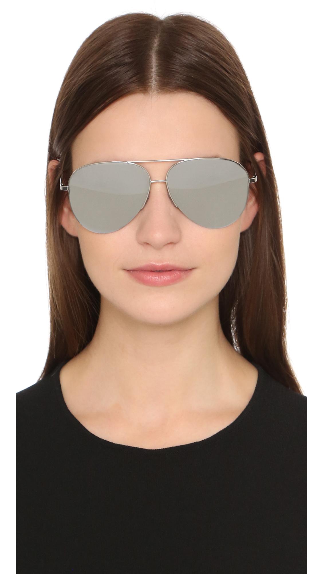 Victoria Beckham Classic Victoria Aviator Sunglasses In