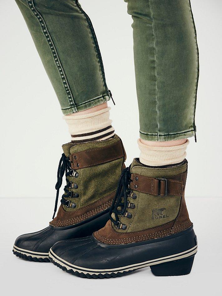 new styles 33759 1e79c Sorel Slimpack Ii Lace in Black - Lyst