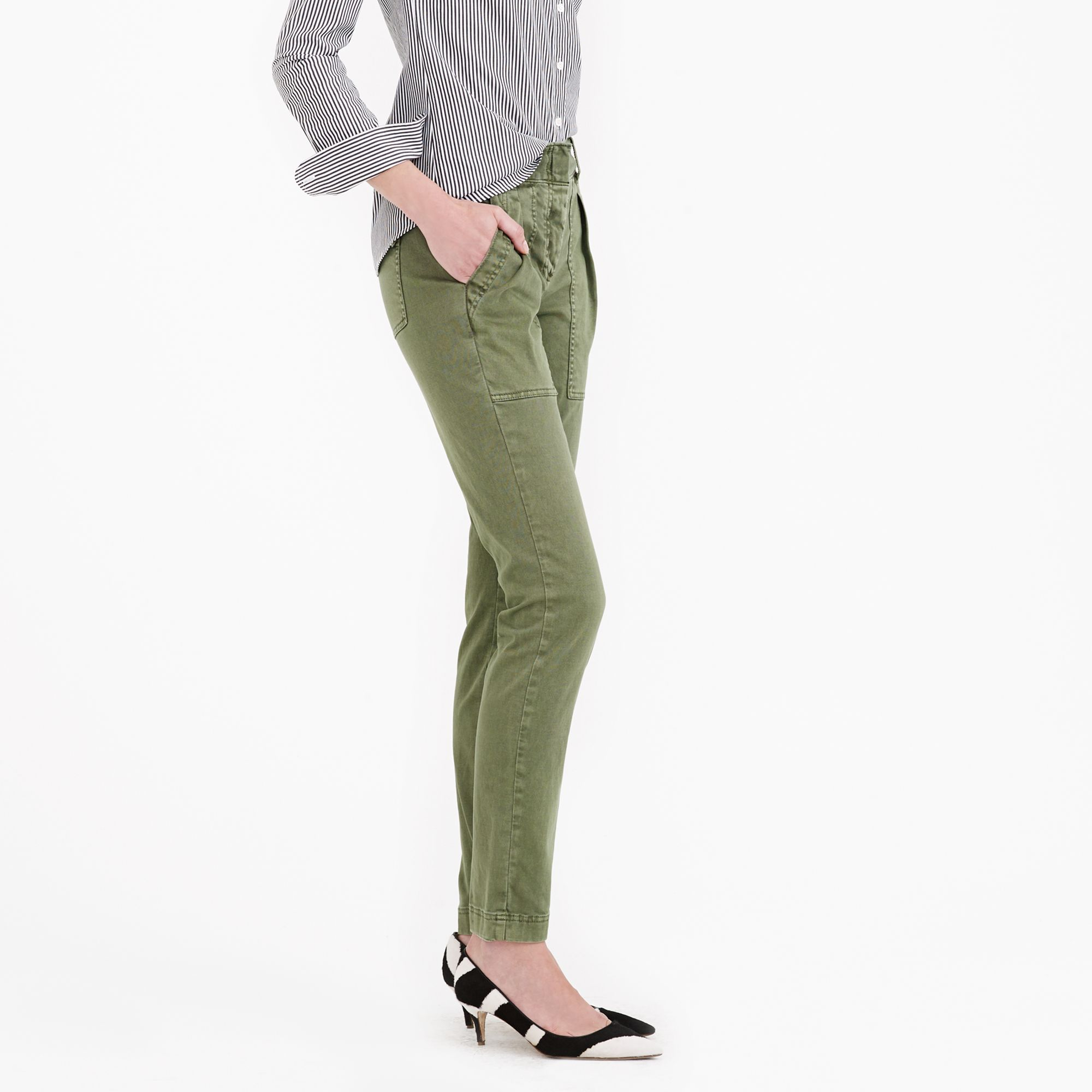 93a242a3ffe3e J.Crew Preorder Highrise Cargo Pant in Green - Lyst