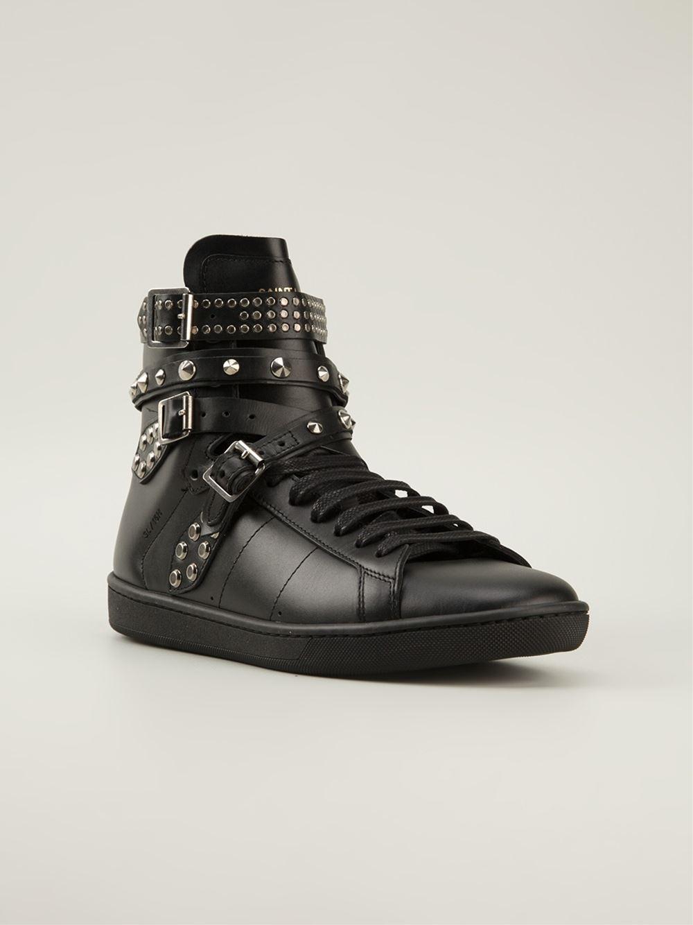Saint laurent 'classic Court' Sneakers in Black | Lyst