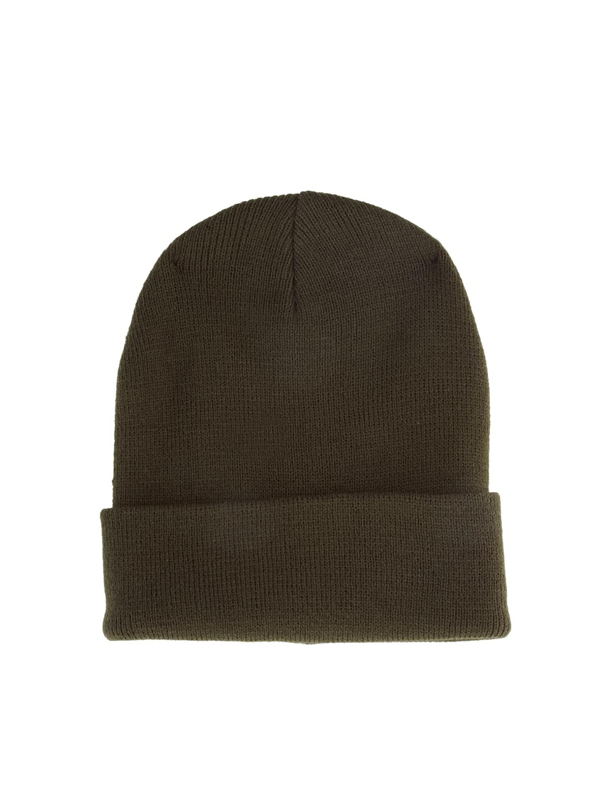 5048443dcdb Lyst - ASOS Tall Beanie Hat in Natural for Men