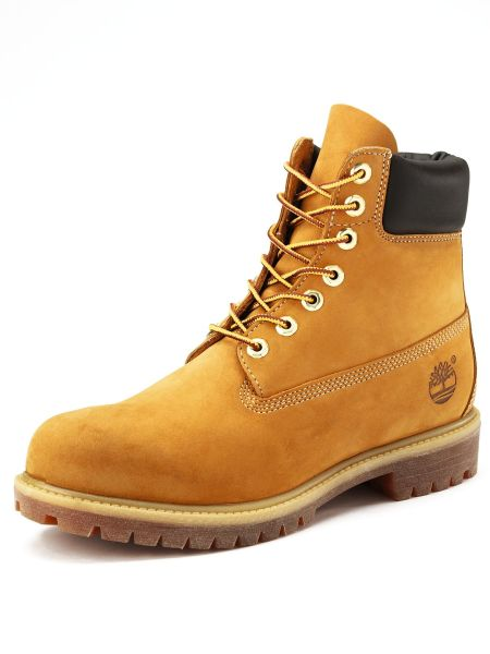 Timberland Mens 6 Inch Premium Boots In Beige For Men
