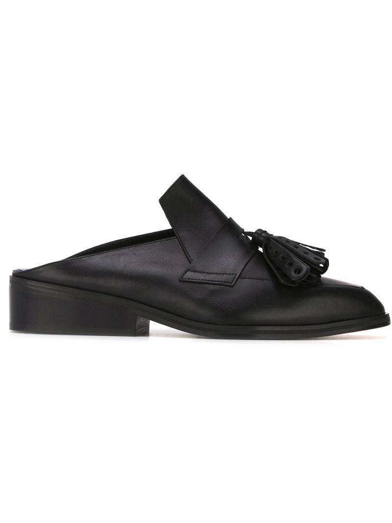 Lyst Robert Clergerie Tassel Loafer Mules In Black