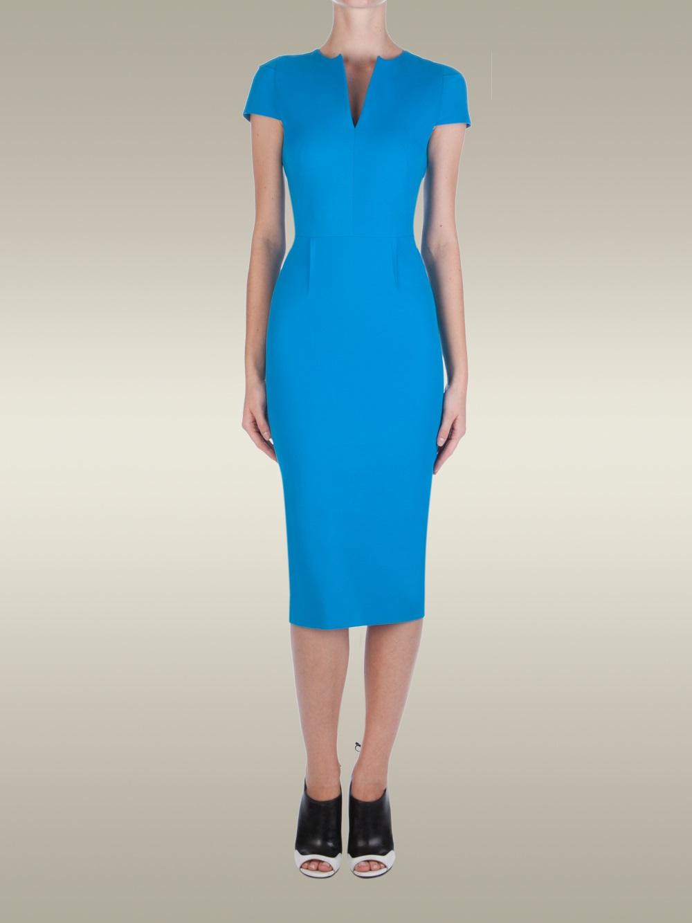 68571c98562 Lyst - Roland Mouret Delphinus Dress in Blue