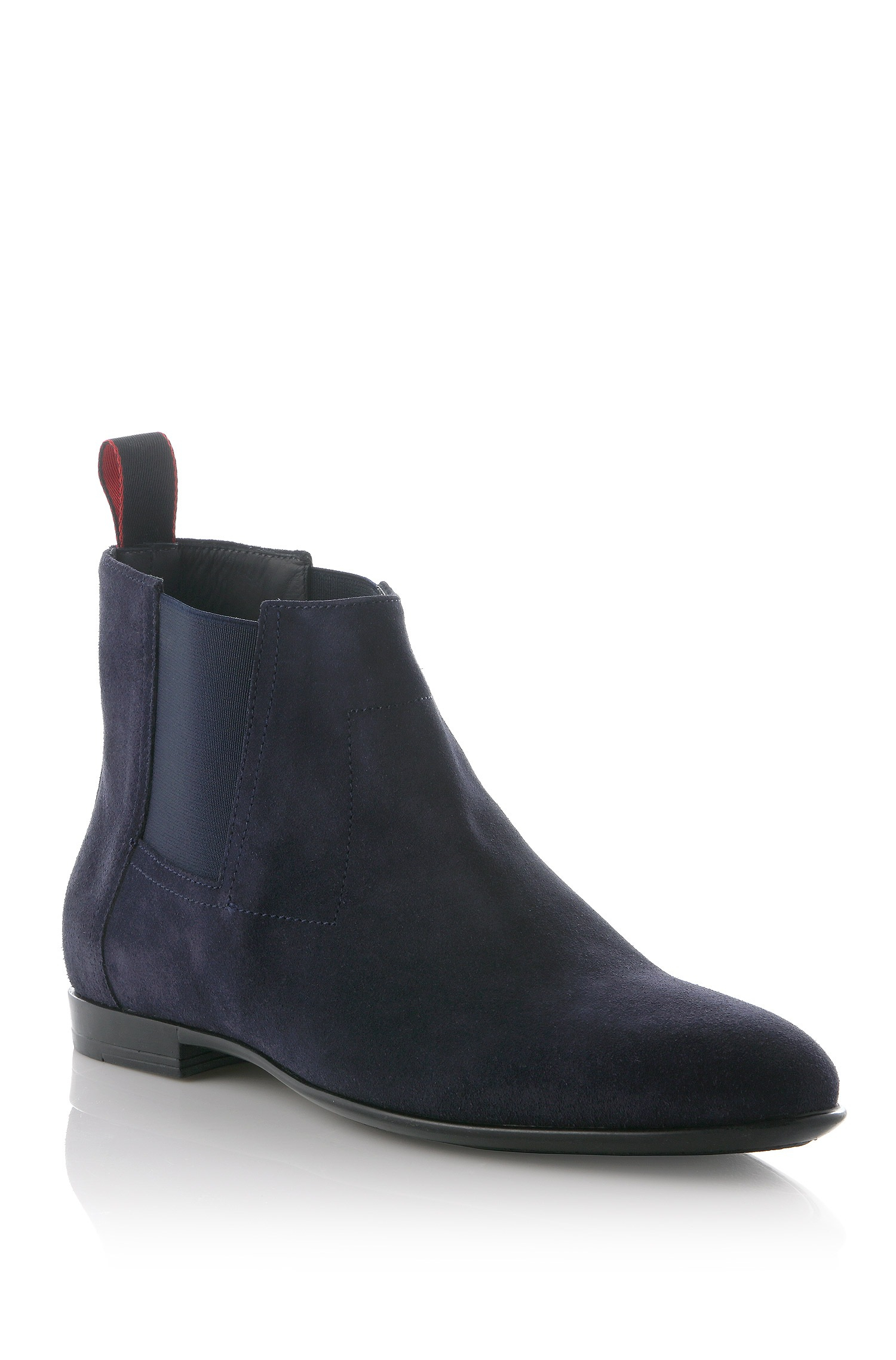 hugo ankle boots parmel in suede in blue for