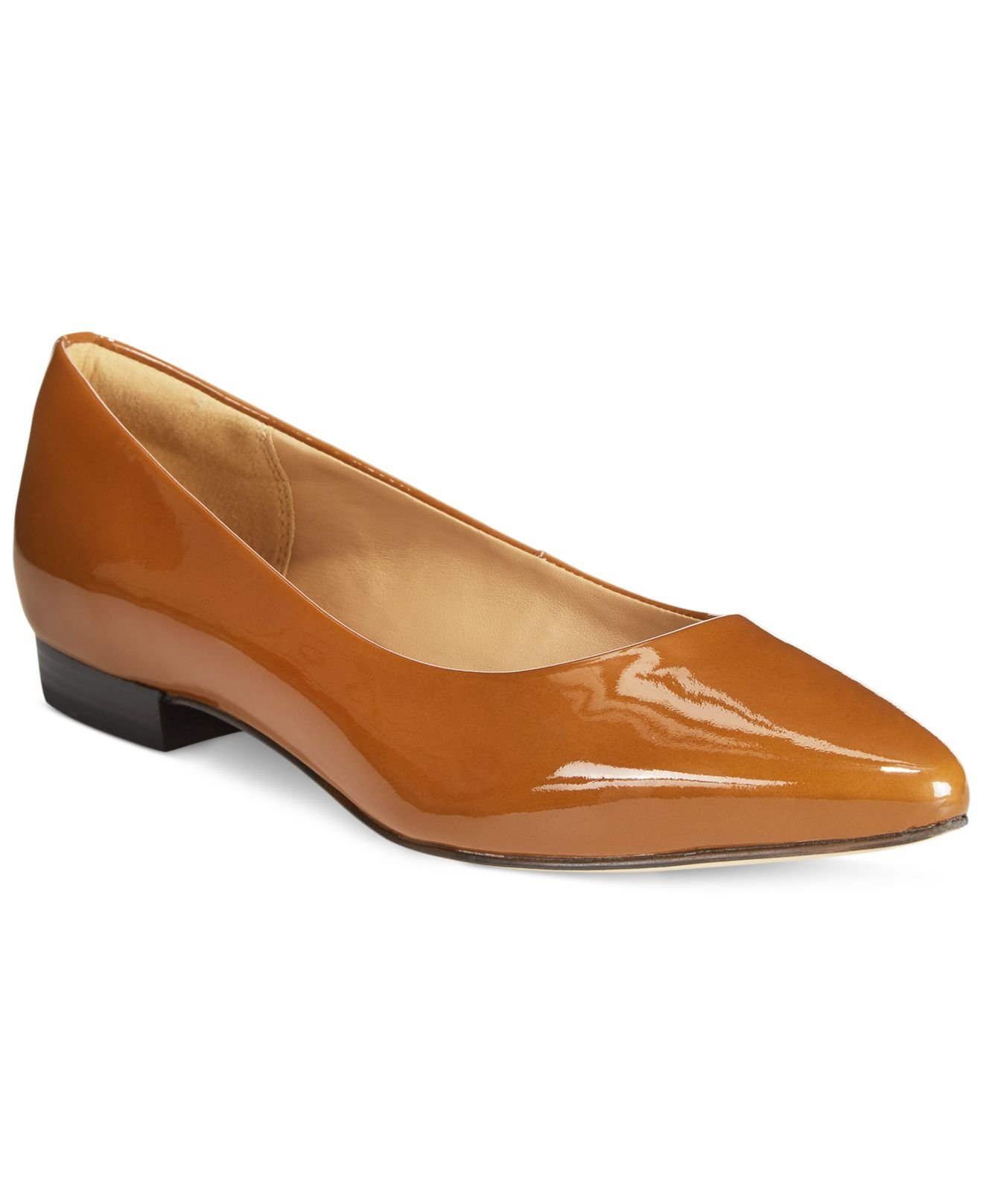 7eabc0f762f Lyst - Clarks Artisan Women s Corabeth Abby Pointed Toe Flats in Brown