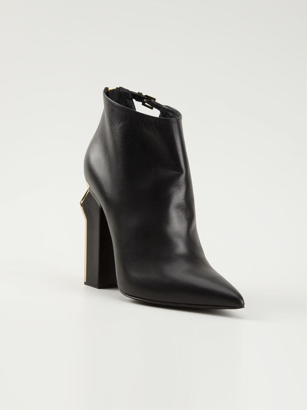 Black Boots Chunky Heel