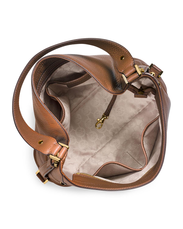 742e1de9d6 Lyst - MICHAEL Michael Kors Bedford Large Belted Shoulder Bag in Brown
