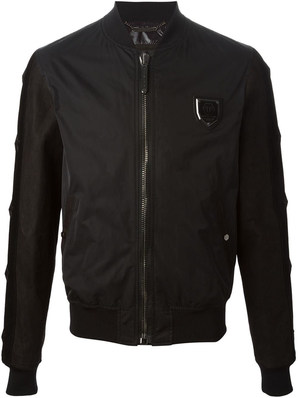 philipp plein black bomber jacket for men lyst. Black Bedroom Furniture Sets. Home Design Ideas
