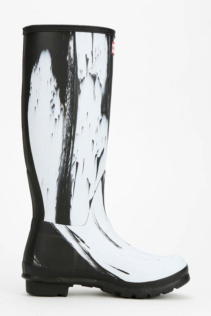 199c7a7e9 HUNTER Original Nightfall Tall Rain Boot in Black - Lyst