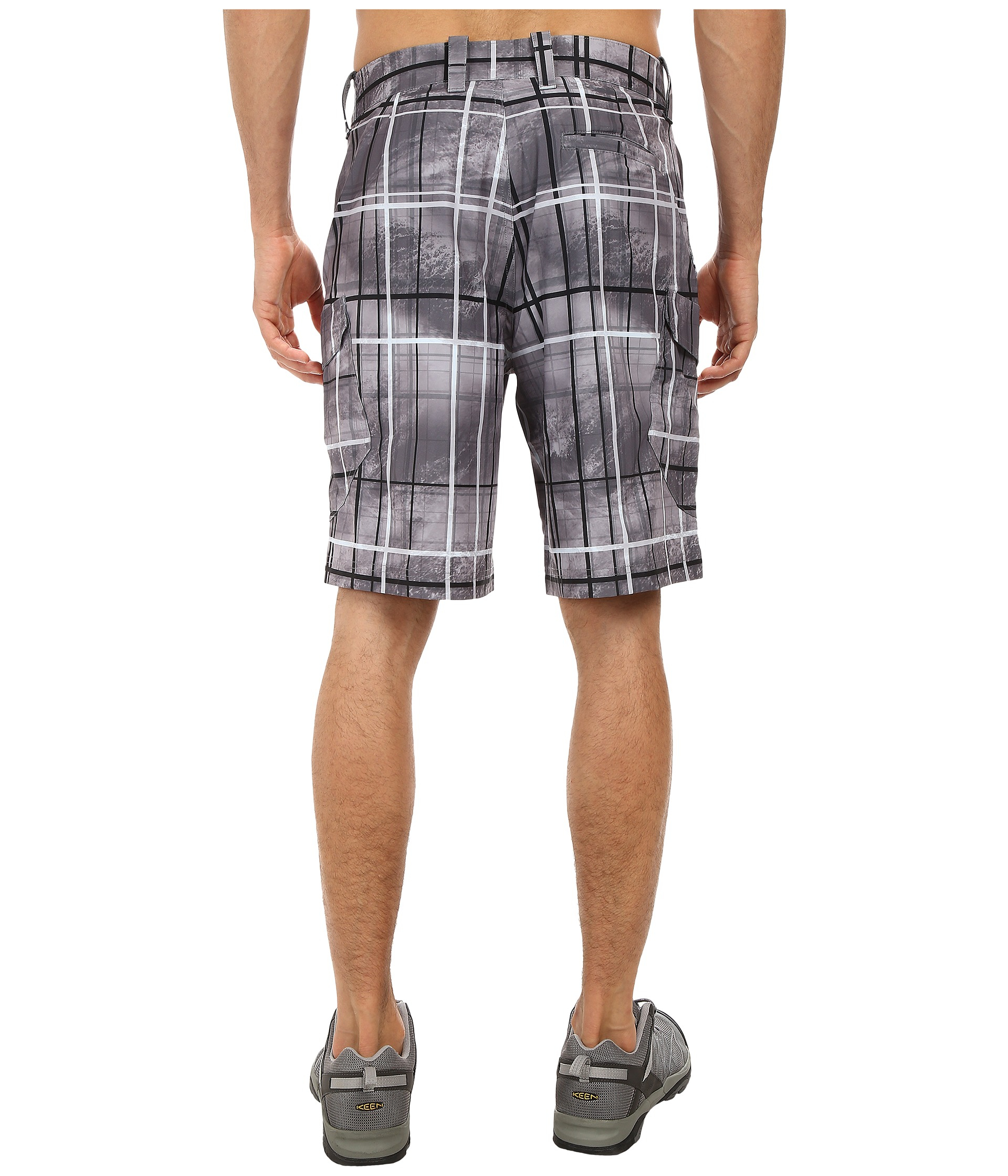 Under armour ua fish hunter cargo short in gray for men lyst for Under armour fishing shorts