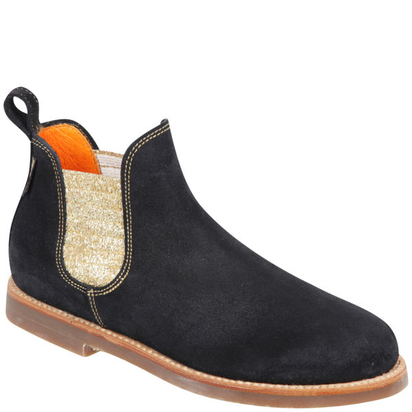 Model Ladies Black Suede Chelsea Boot