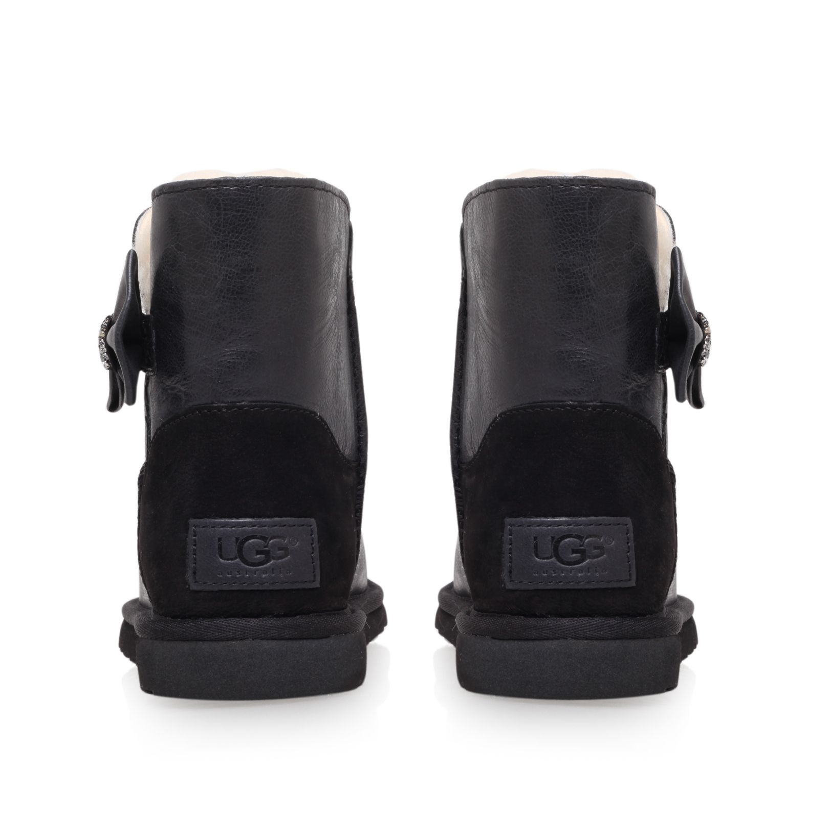 Ugg Mini Bailey Bow Crystal in Black | Lyst