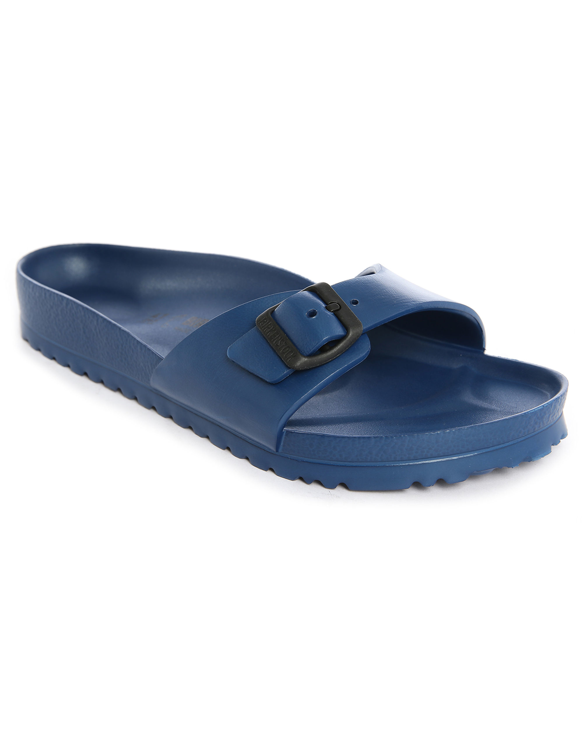 Elegant Womens Birkenstock Arizona Eva Narrow Navy Blue Twin Strap Sandals Shu
