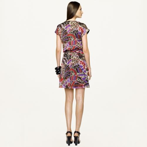 Lyst Ralph Lauren Black Label Floralprint Maye Dress In
