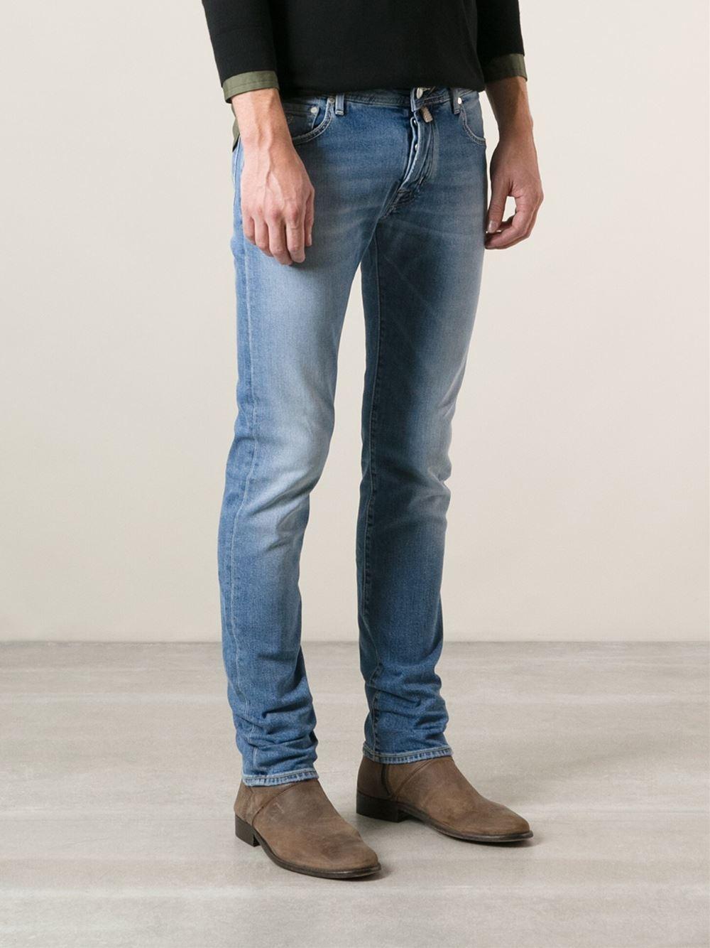 jacob cohen skinny jeans in blue for men lyst. Black Bedroom Furniture Sets. Home Design Ideas