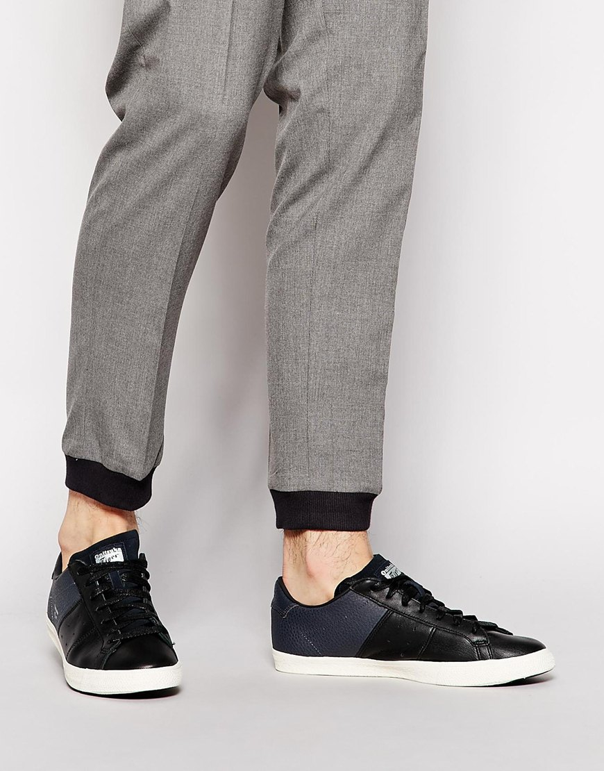 pretty nice 309f1 780c4 Onitsuka Tiger Lawnship Leather Sneakers in Black for Men - Lyst