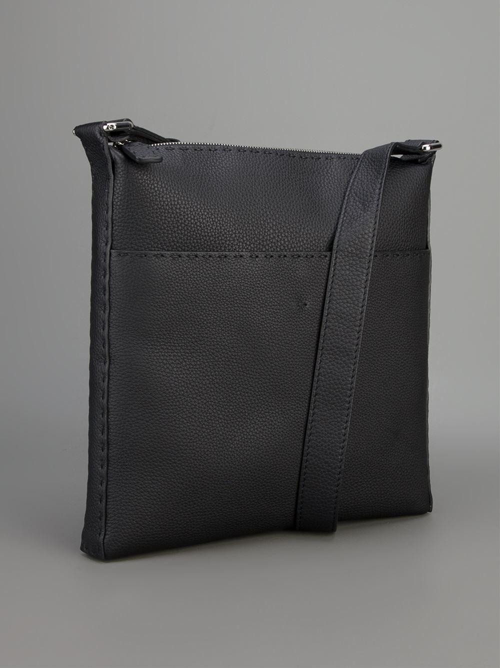 9ee6f4c57d5c Lyst - Fendi Selleria Cross Body Bag in Black for Men