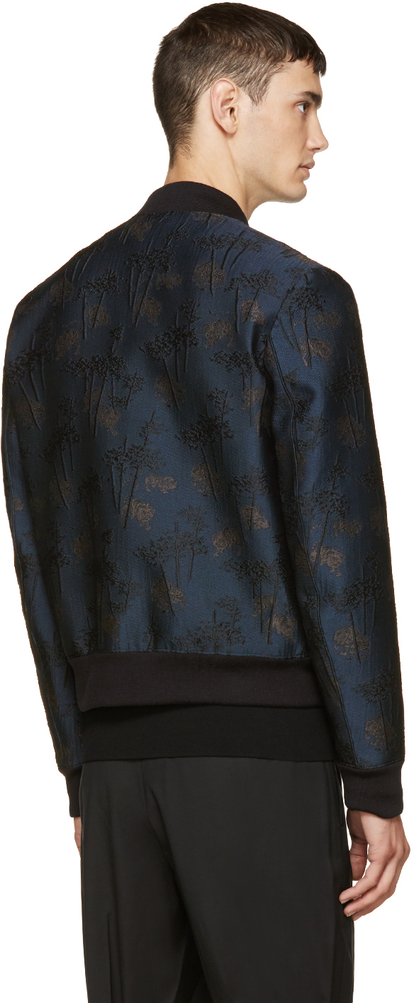 68cd8ede0 KENZO Navy Embroidered Tiger Bamboo Bomber Jacket in Blue for Men - Lyst