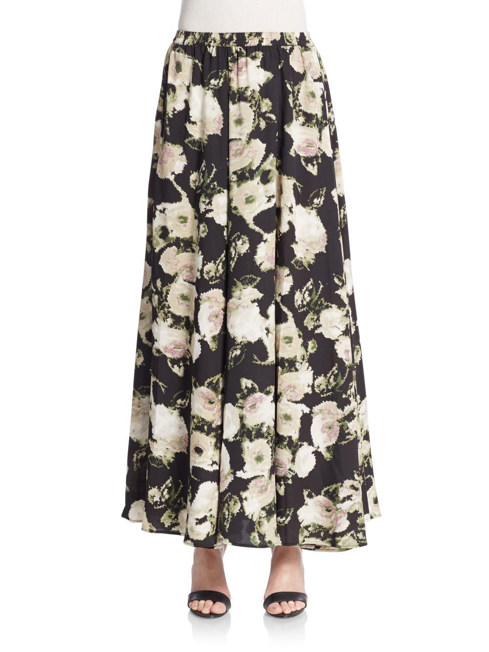 860b658a2 Lucky & Coco Mega Sweep Maxi Skirt in Black - Lyst