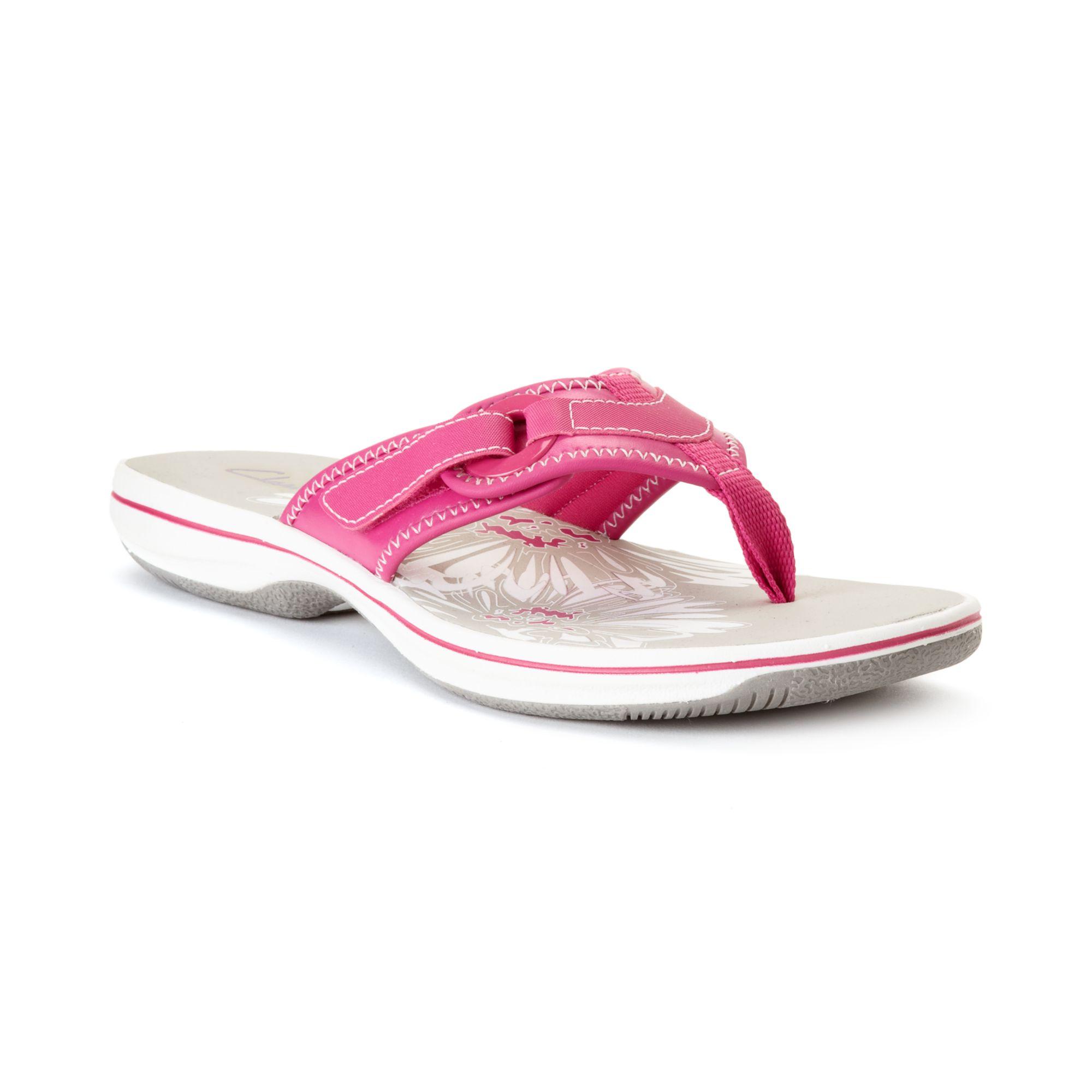 Lyst Clarks Womens Shoes Breeze Mila Flip Flops In Pink