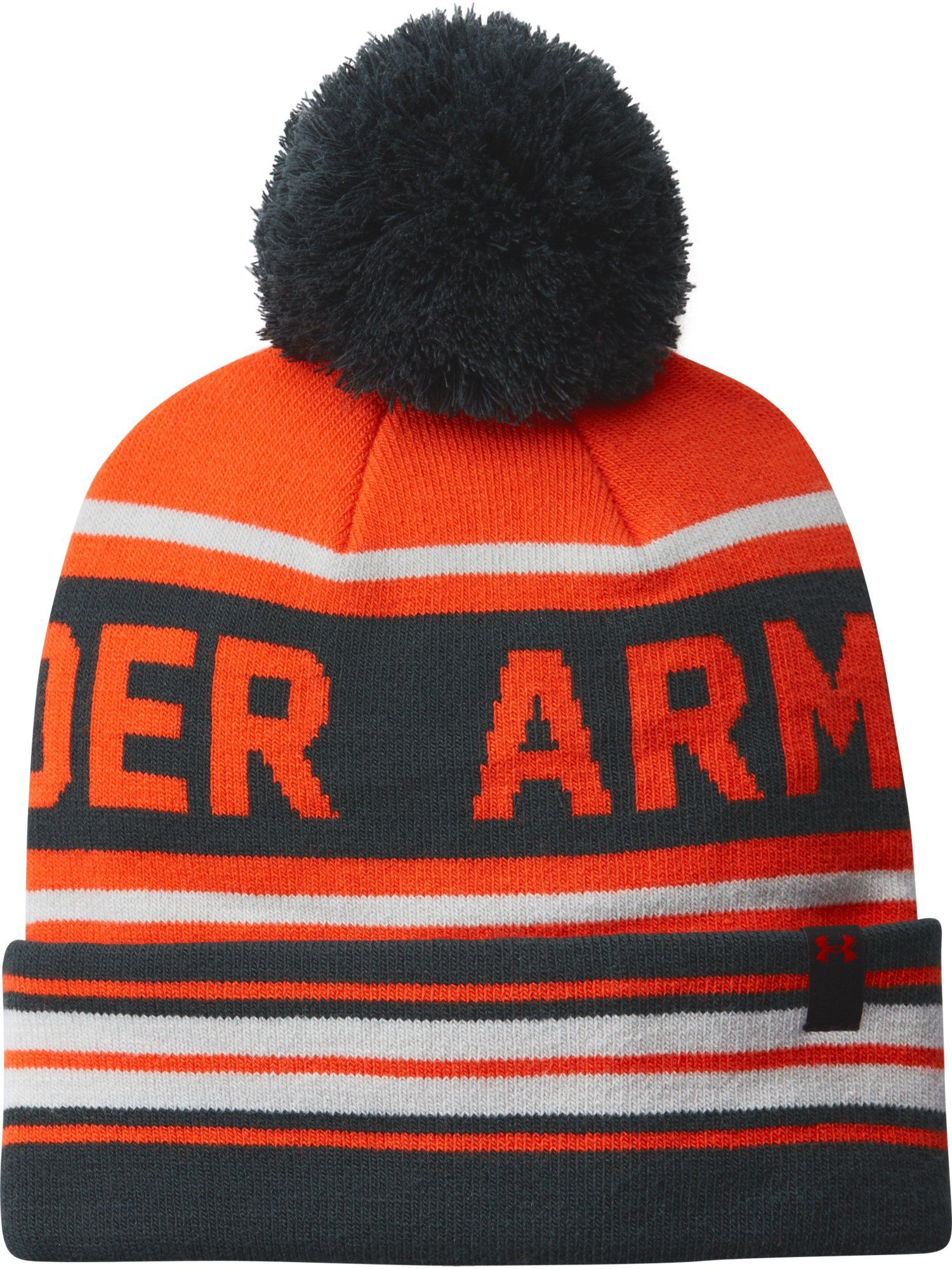 4f46fb6a4fec6 ... bucket hat 5cb1f 1da05  free shipping under armour retro pom beanie in  orange for men lyst 6db79 2af30