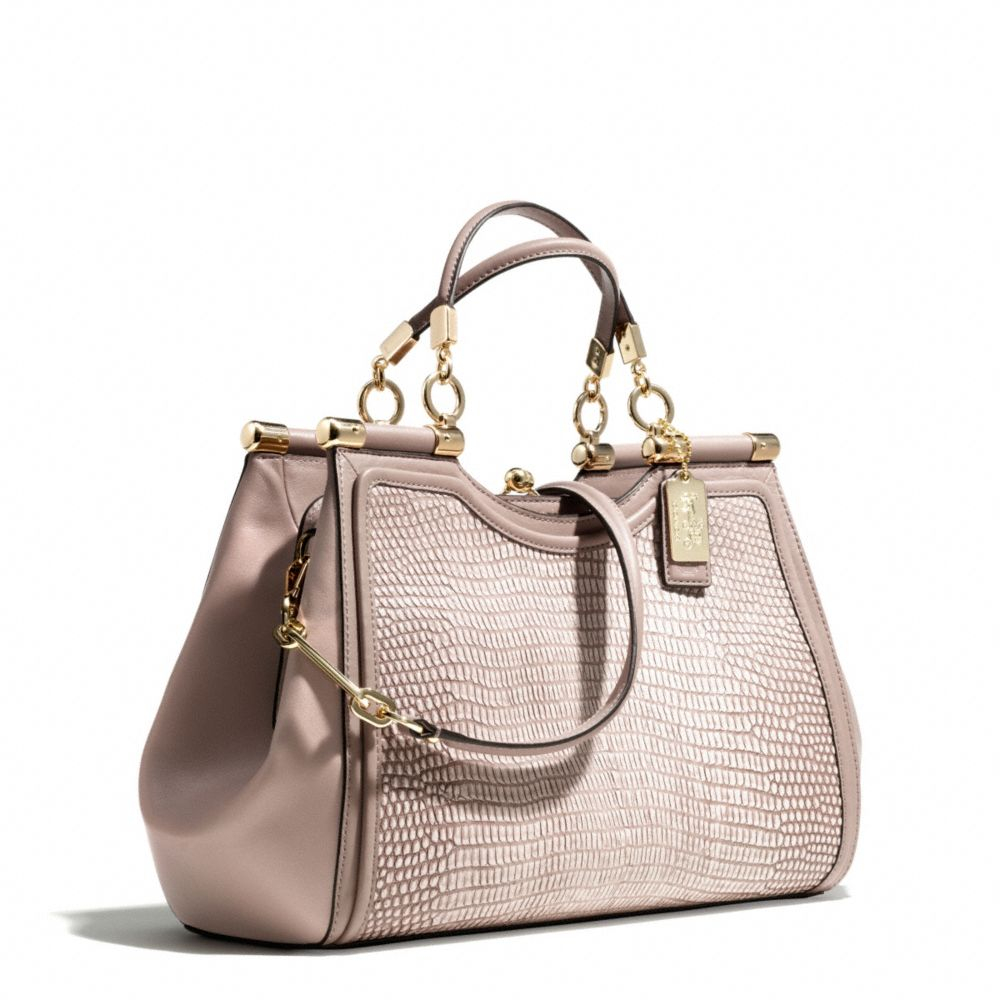 ... france lyst coach madison pinnacle carrie in lizard embossed leather in  147c2 49da6 acbd3a3848