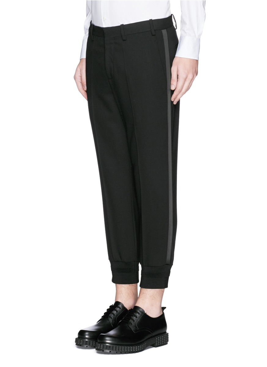 Lyst Neil Barrett Satin Stripe Virgin Wool Tuxedo Pants