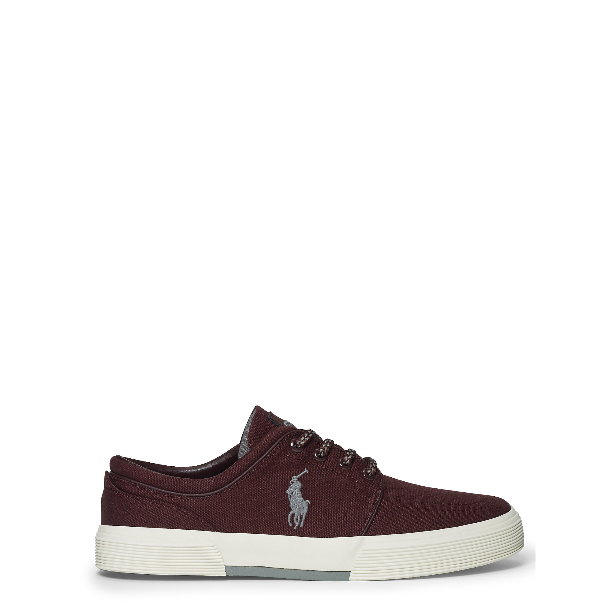 polo ralph lauren faxon canvas low sneaker in brown for men redwood lyst. Black Bedroom Furniture Sets. Home Design Ideas