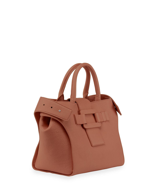 Lyst - Roger Vivier Cabas Pilgrim De Jour Small Satchel Bag in Brown 0e4cbd9541321