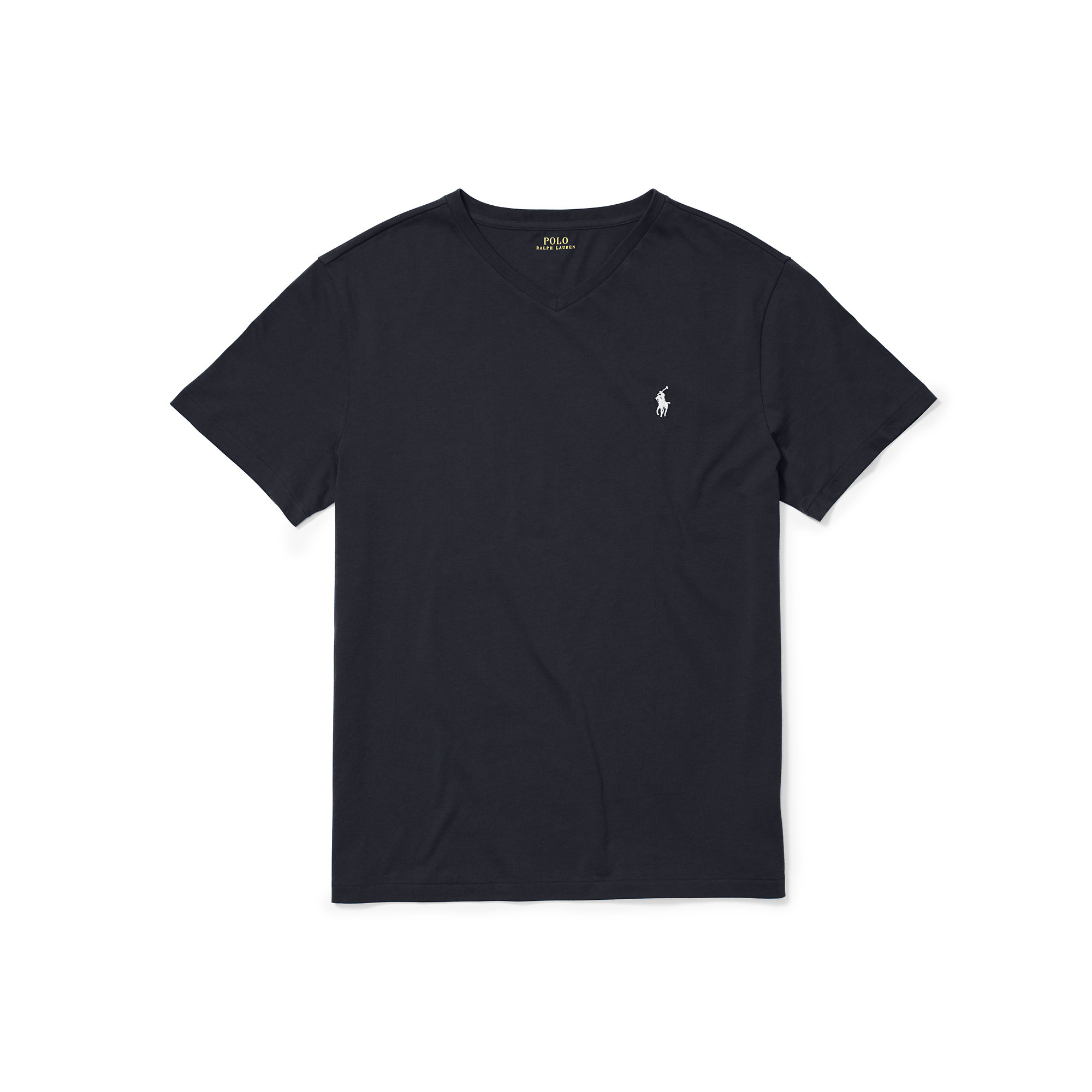 00fd7827e61db ... low cost lyst polo ralph lauren cotton jersey v neck t shirt in black  for men