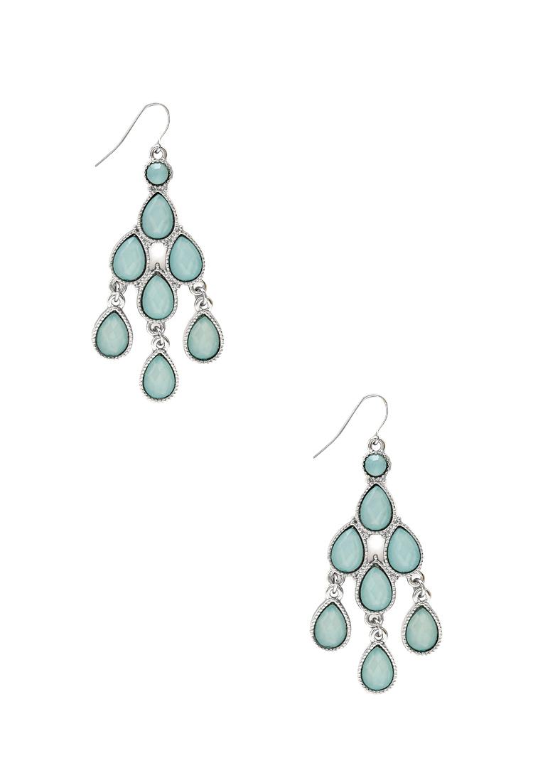 Lyst forever 21 elegant chandelier earrings in blue gallery arubaitofo Images