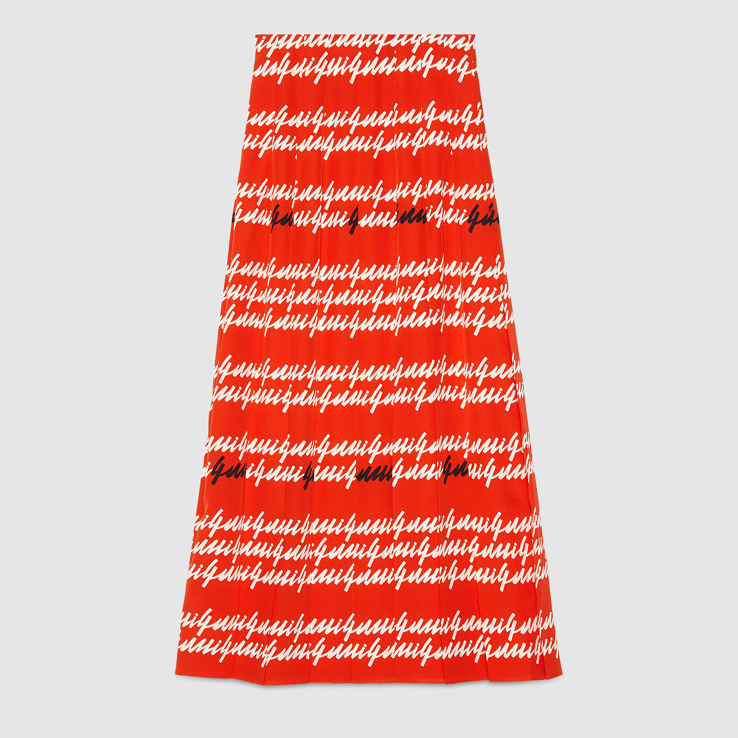 Gucci Print Silk Pleated Skirt - 2047.4KB