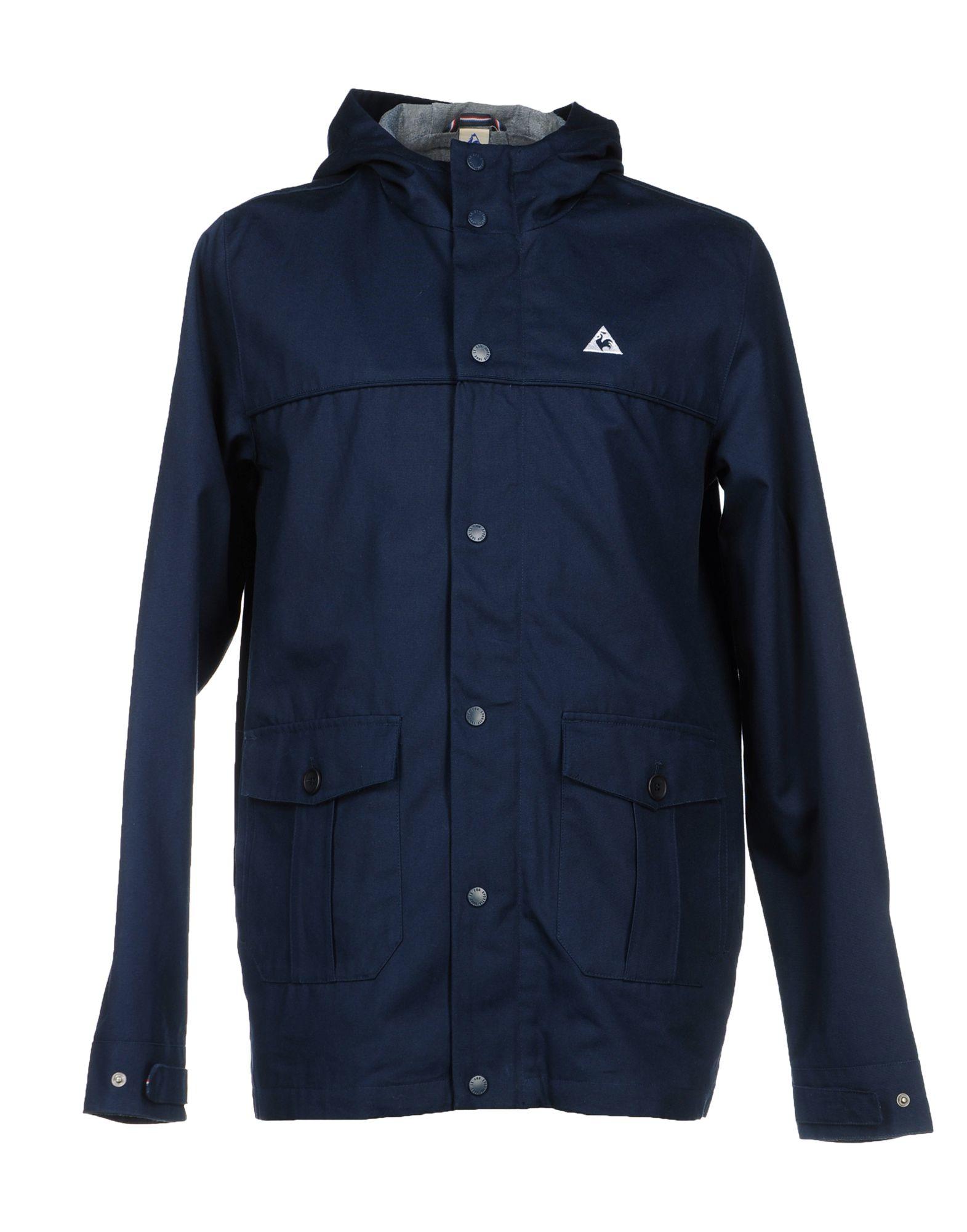 le coq sportif jacket in blue for men dark blue lyst. Black Bedroom Furniture Sets. Home Design Ideas