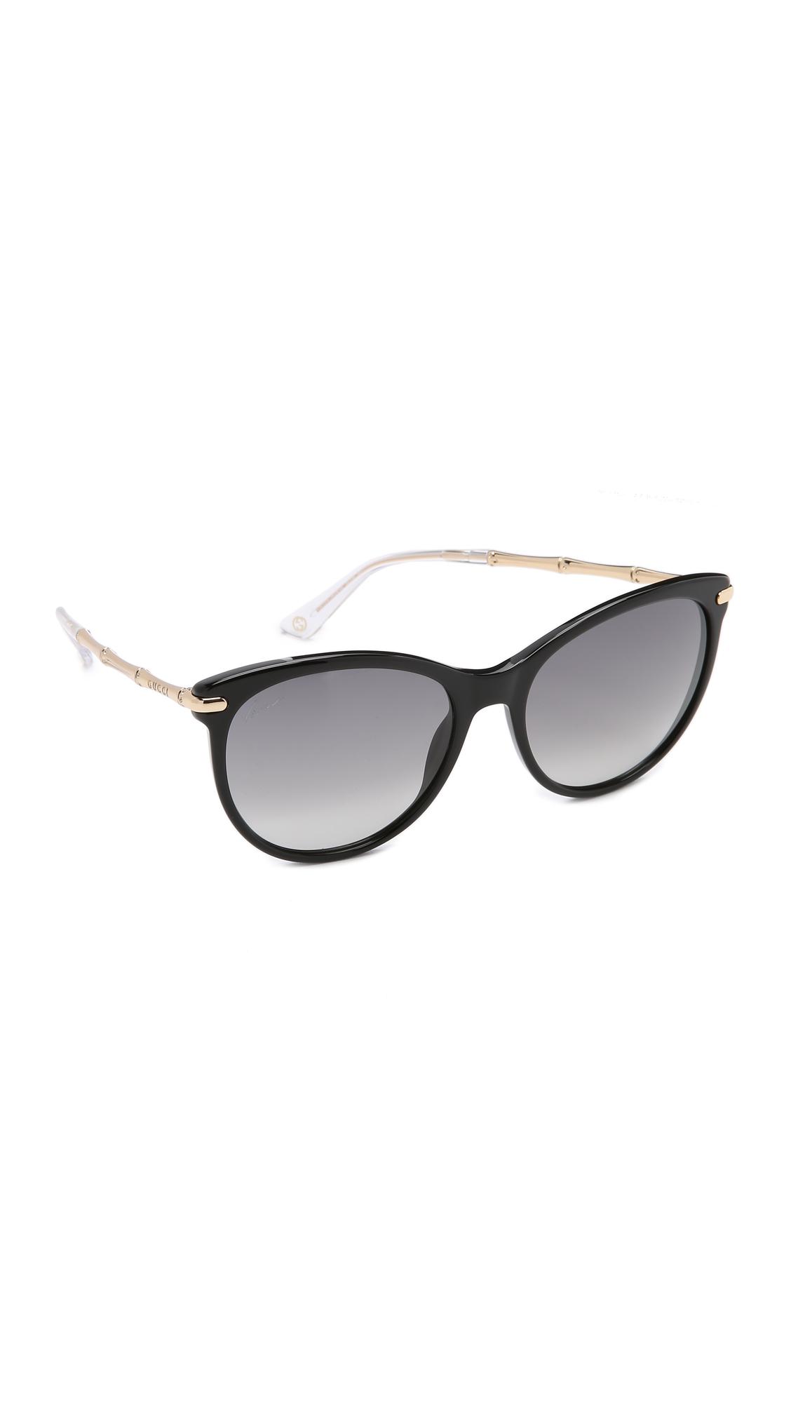 Gucci Bamboo Sunglasses  gucci bamboo temple sunglasses in black lyst