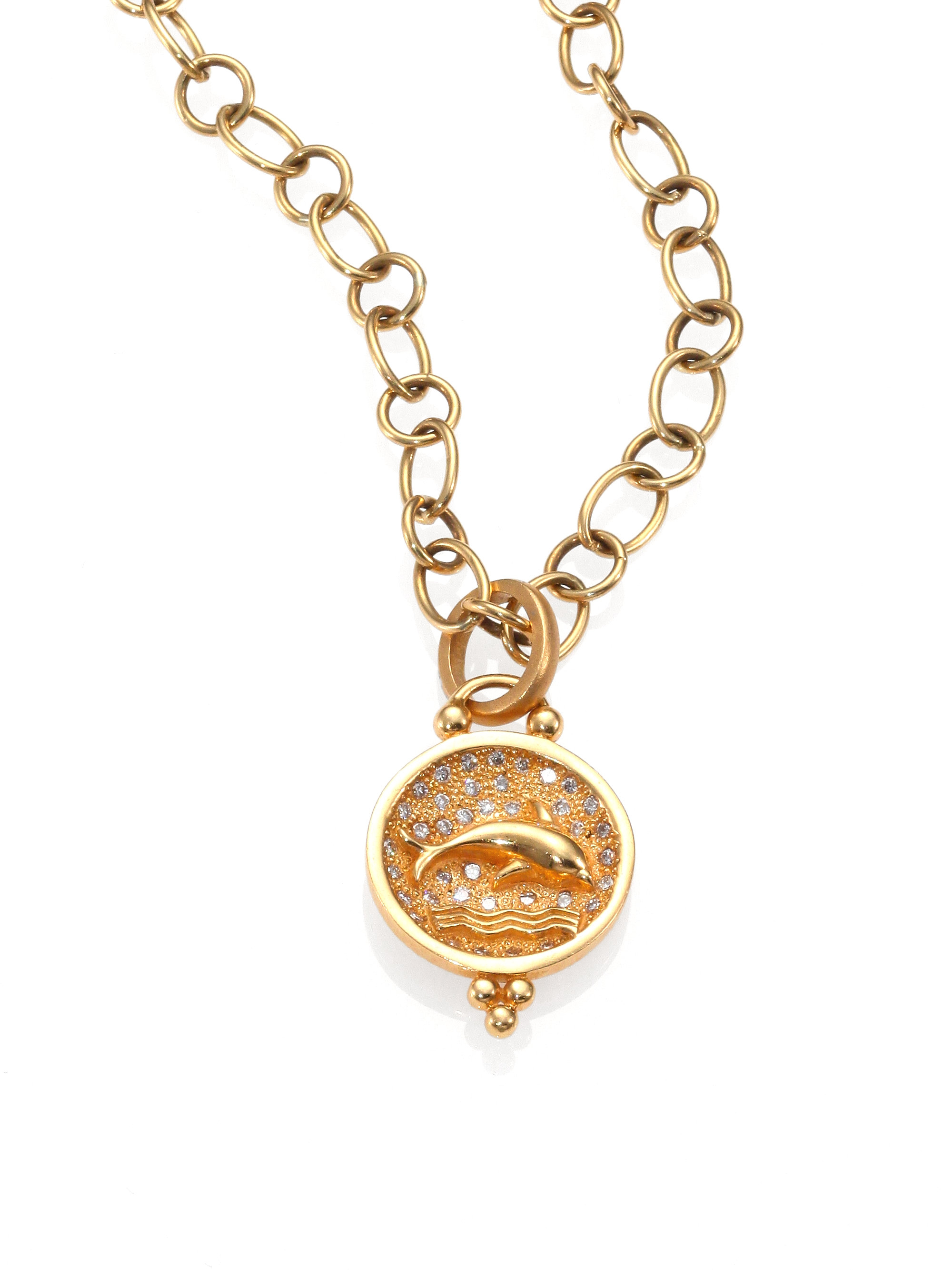 temple st clair tree of 18k yellow gold