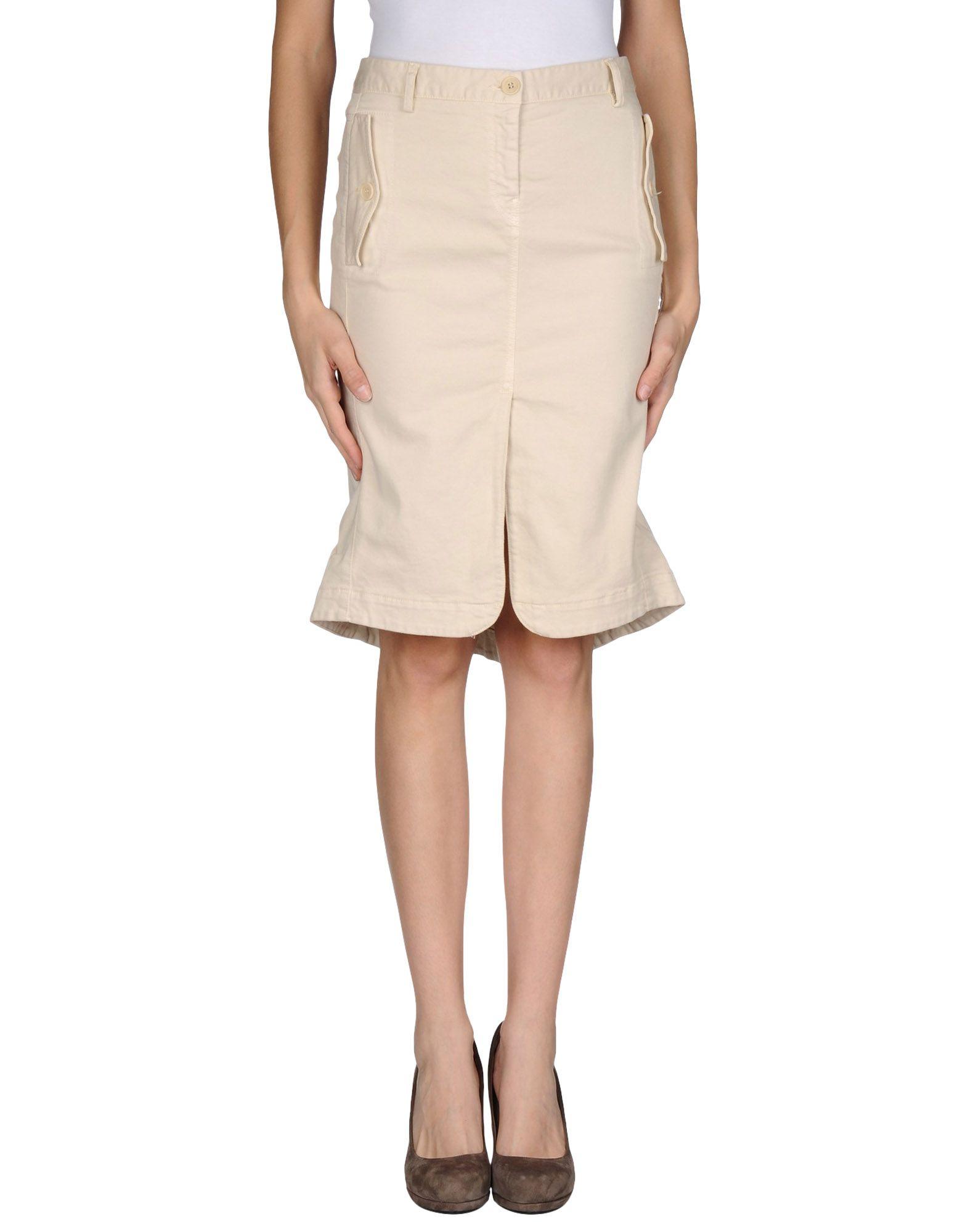 adele fado knee length skirt in beige save 66 lyst