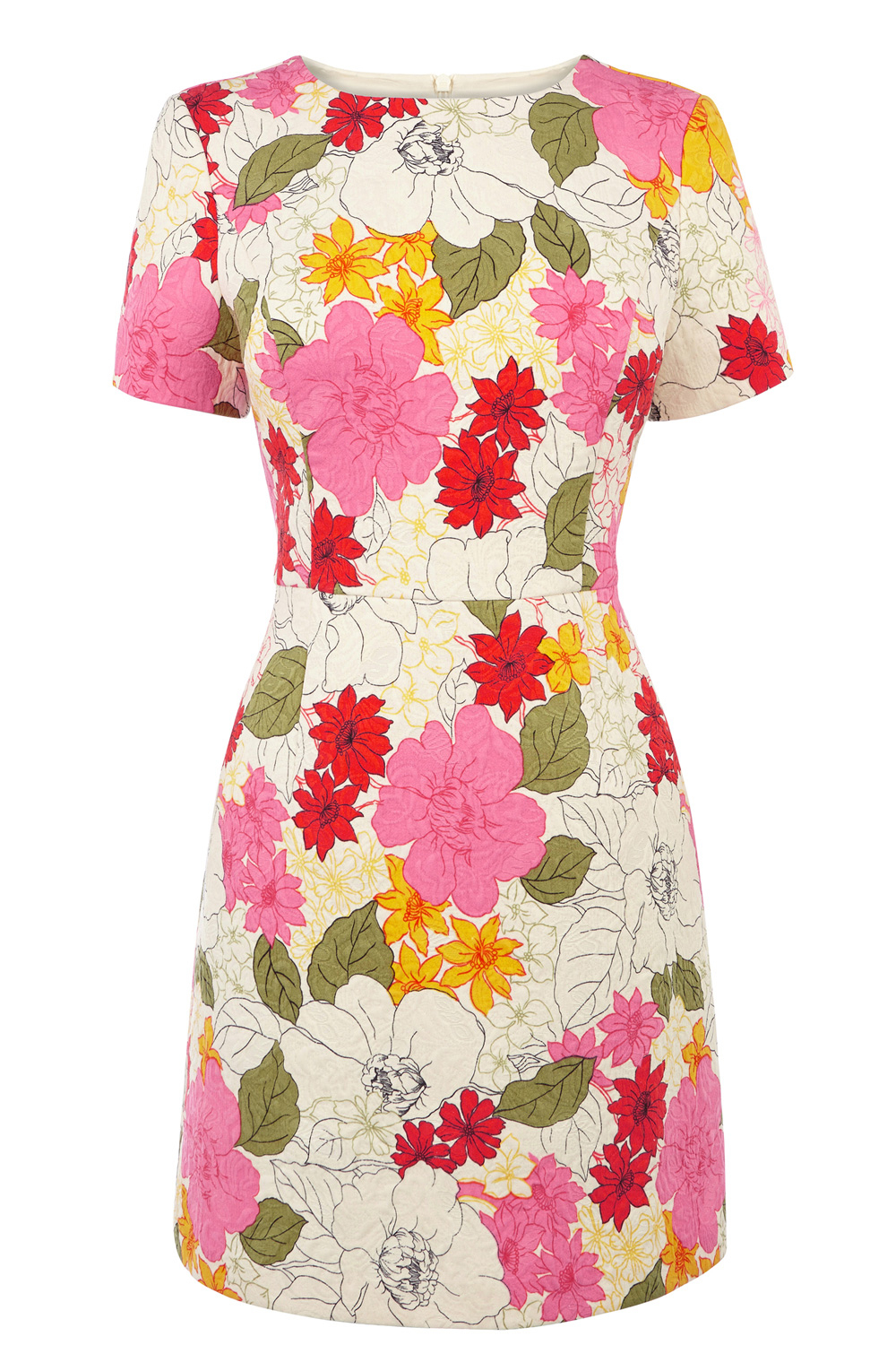 Lyst Oasis 60s Flat Floral Dress In Pink