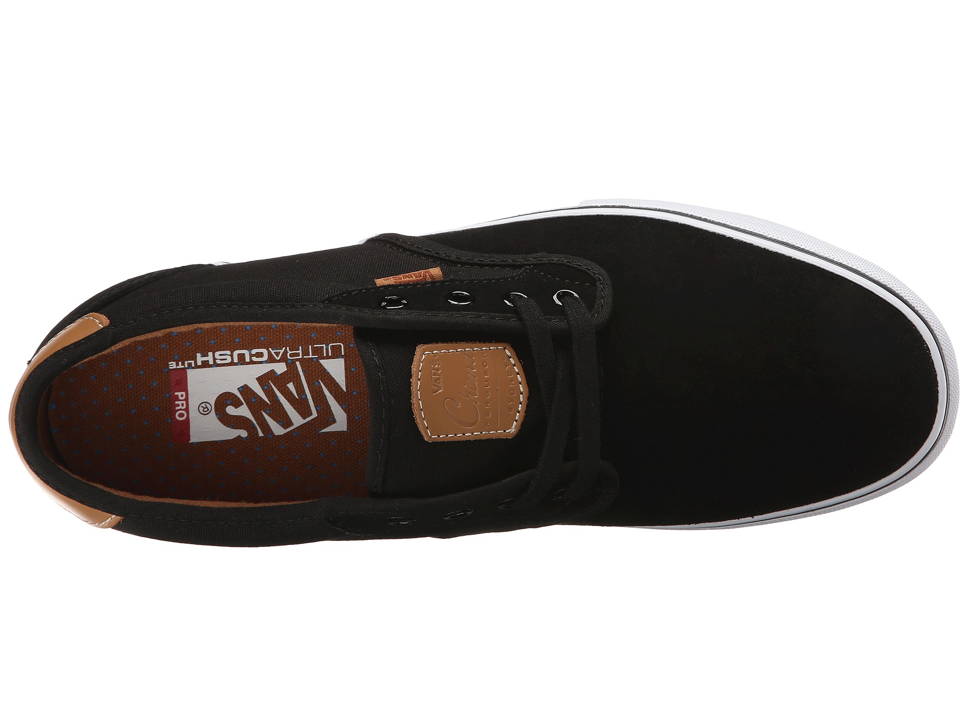 Vans Chima Pro Black White Tan Skate Shoe