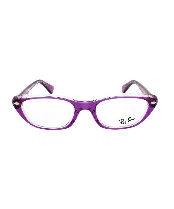 Lyst - Ray-Ban Rx 5242 5254 Rectangular Eyeglass Frames | Purple ...