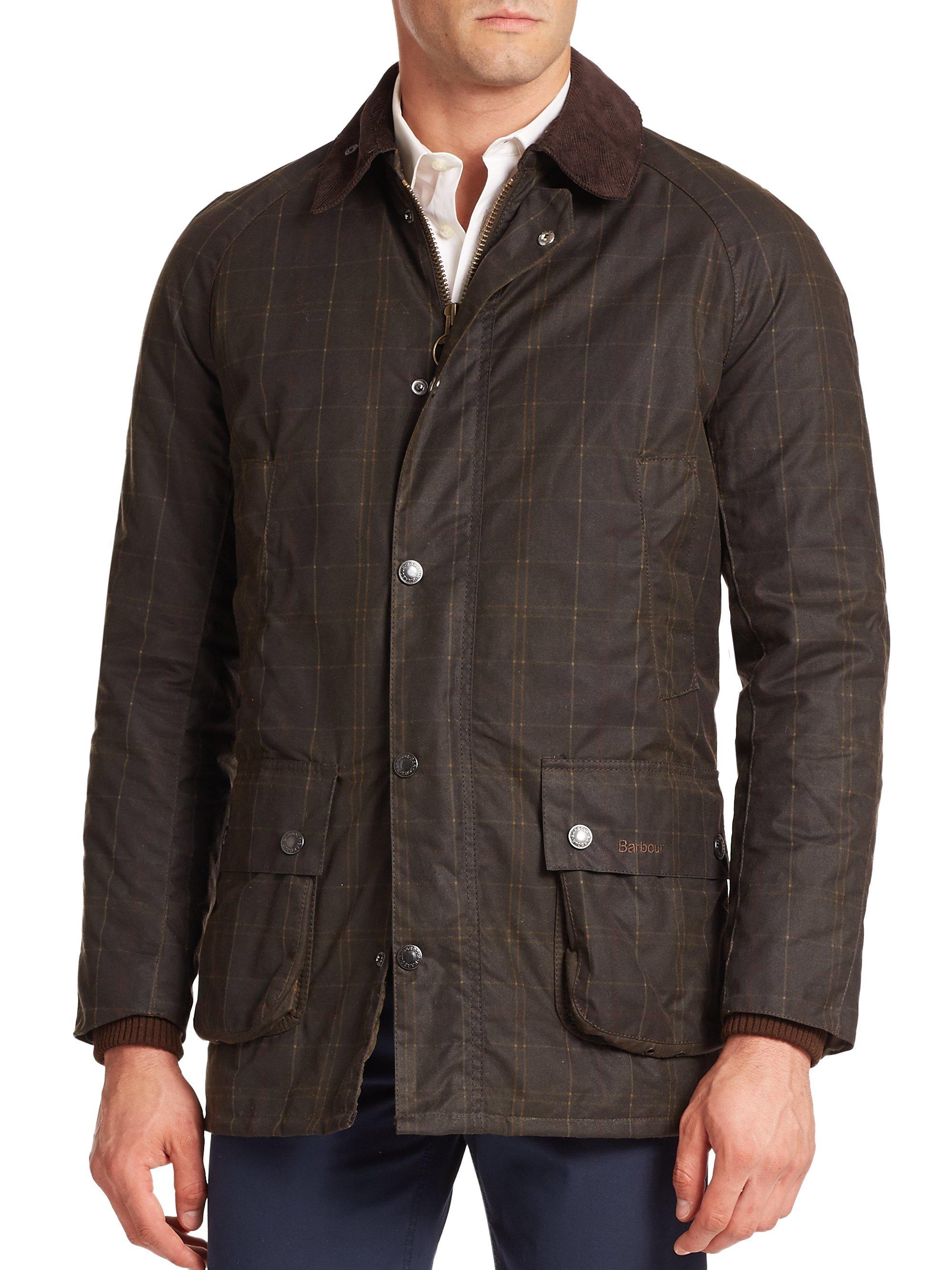 Barbour Hemmingway Printed Waxed Cotton Jacket In Brown