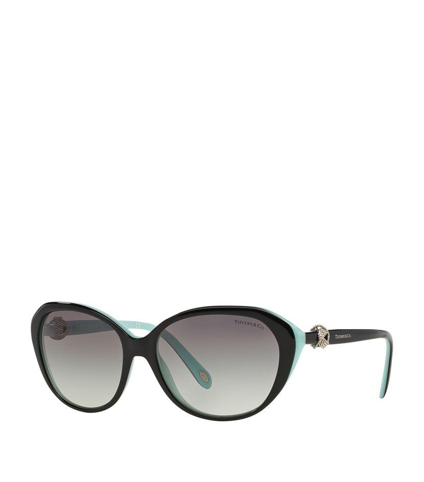 007f094db5fc Tiffany   Co. Oval Knot Sunglasses in Blue - Lyst