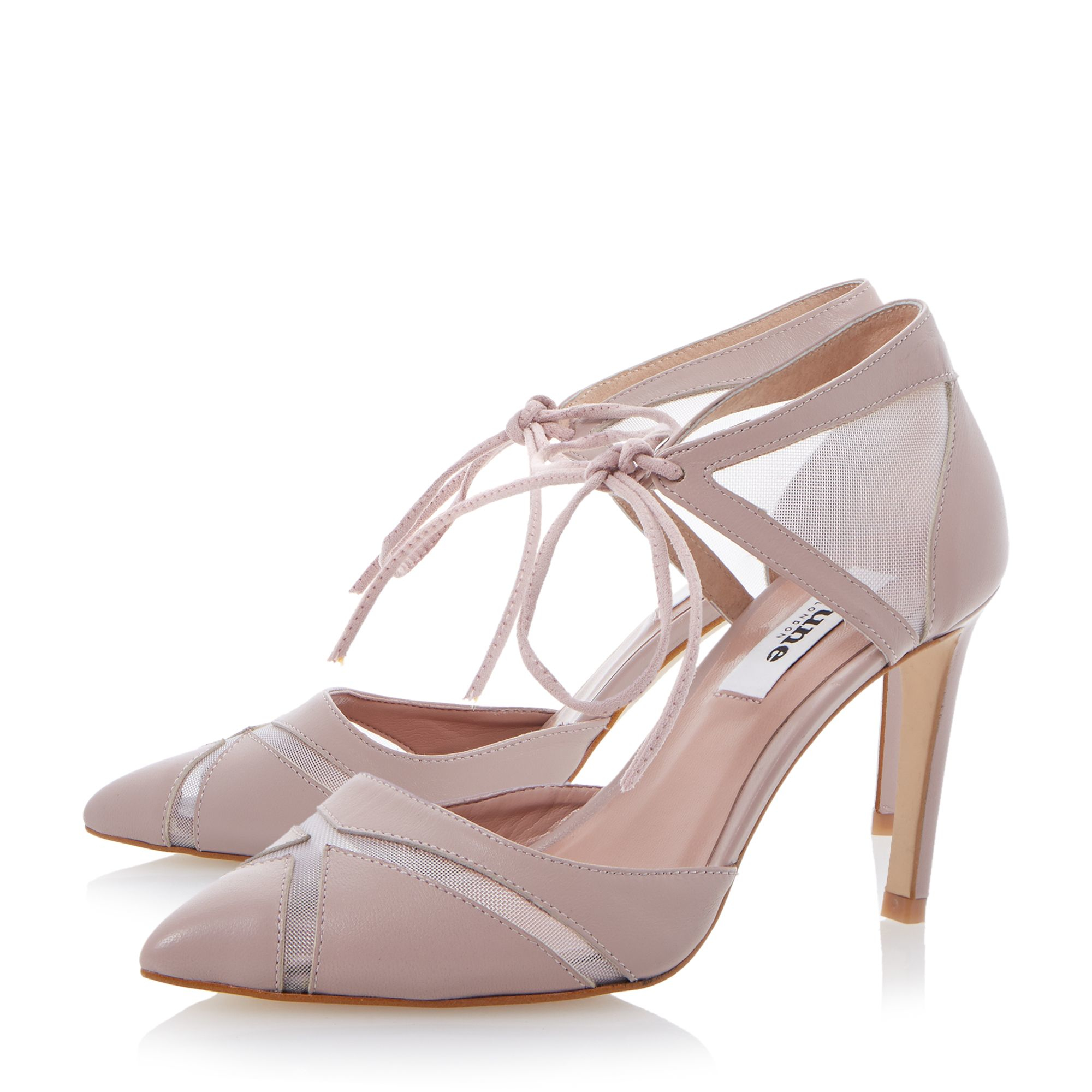dune cosete mesh 2 part court shoes in pink lyst