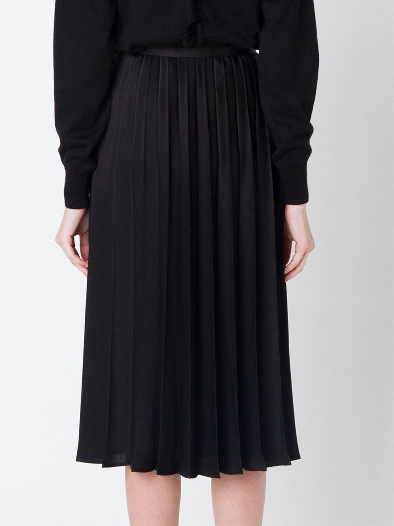 comme des gar 231 ons noir kei ninomiya pleated skirt in black