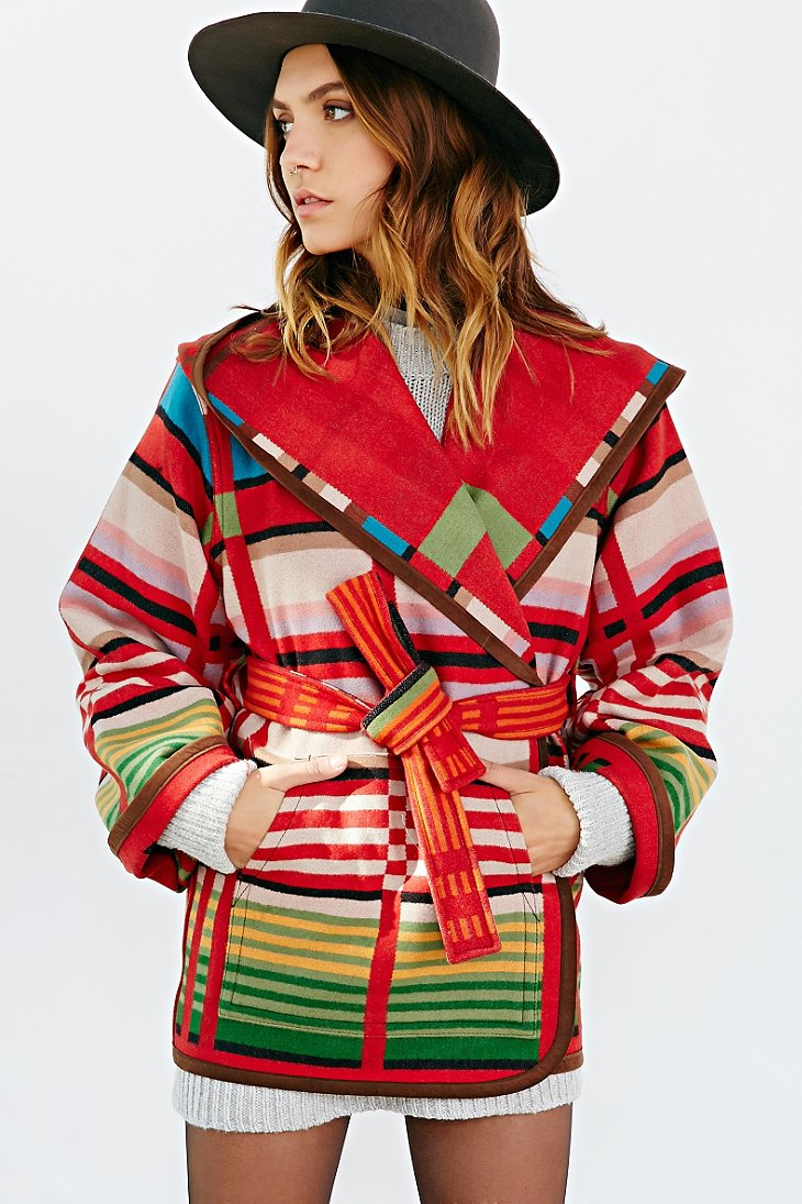 Lyst Pendleton Sedona Reversible Coat In Red