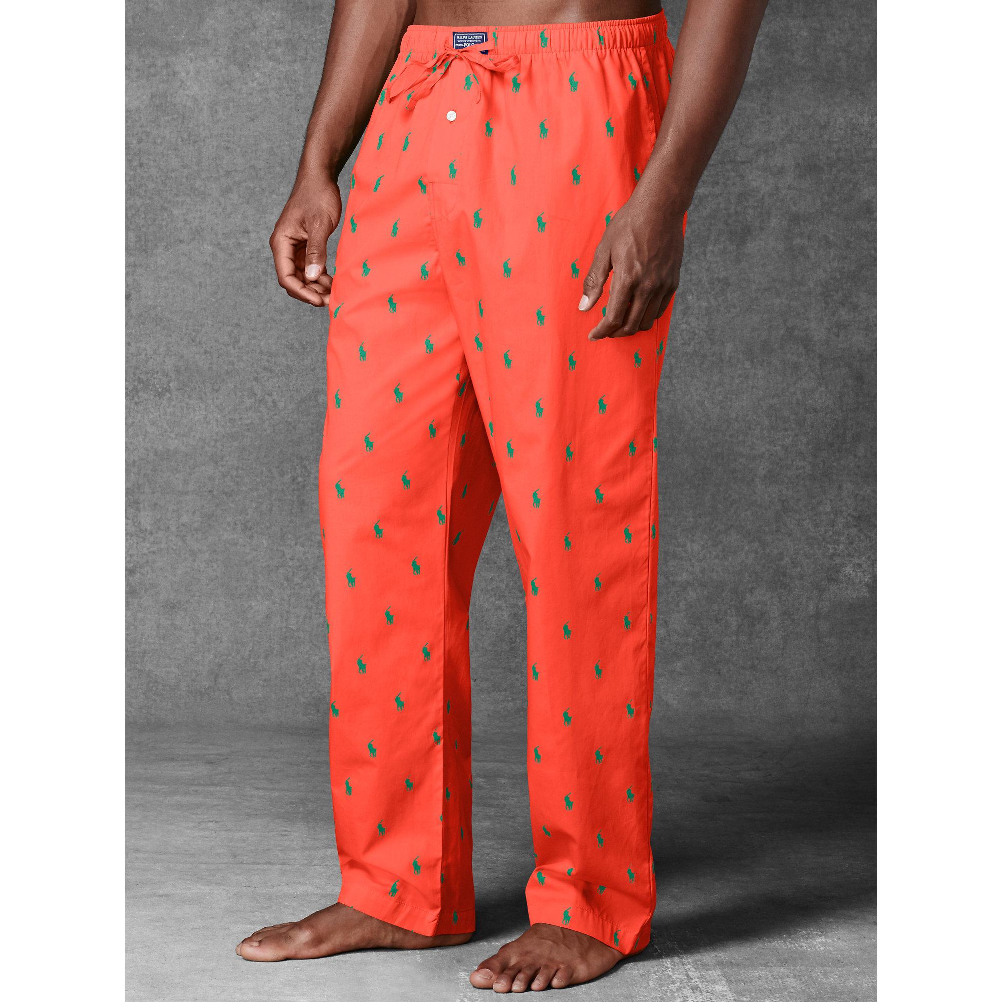 456510f9c Polo Ralph Lauren Allover Pony Sleep Pant in Orange for Men - Lyst