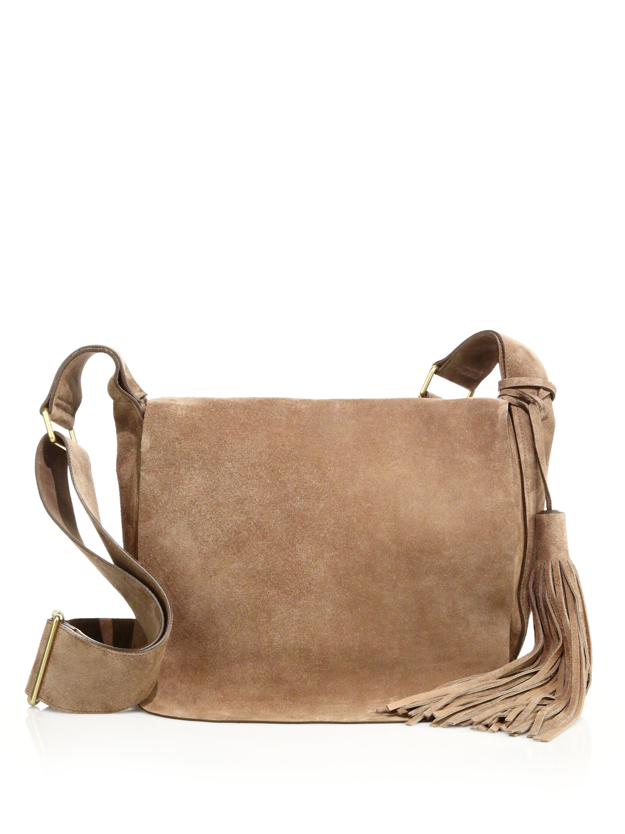 9a91cca470 Lyst - A.L.C. Jackson Suede Crossbody Bag in Natural