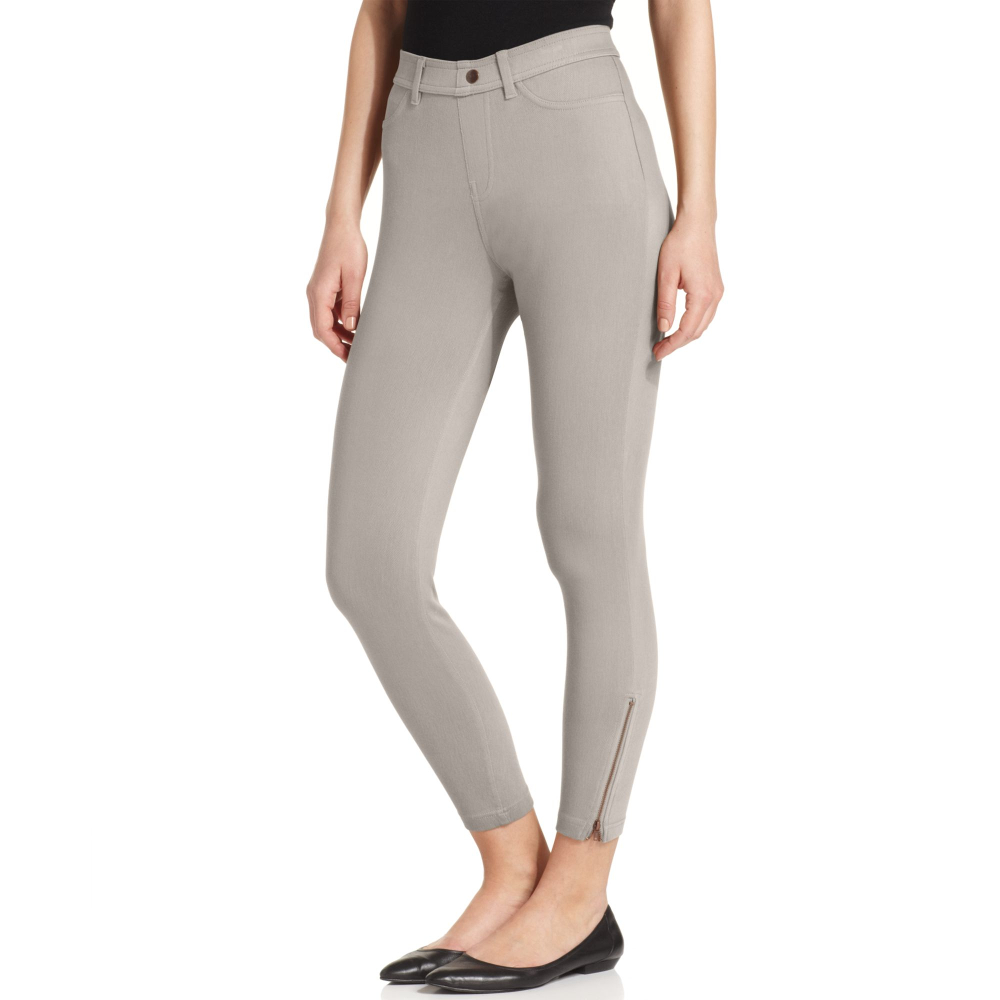 Hue Khaki Skimmer Leggings in Gray (Metal)